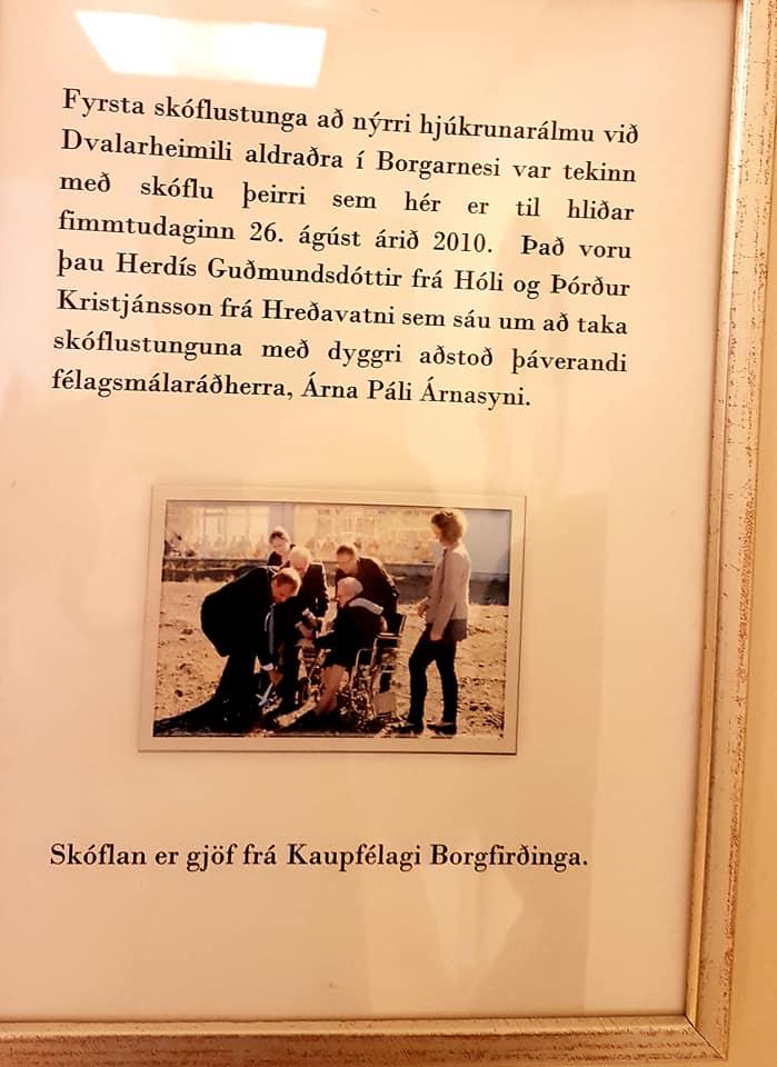 9 ár í dag, 26.ágúst, síðan fyrsta skóflustunga að viðbyggingu við Brákarhlíð át...