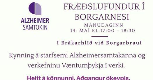 Fræðslufundur Alzheimersamtakanna í Borgarnesi