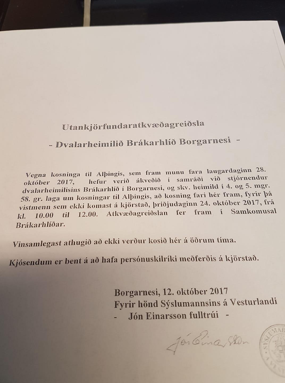 Góðan dag, nú er það staðfest að utankjörfundaratkvæðagreiðsla vegna kosninga ti...