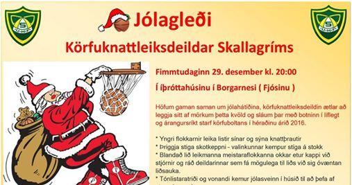 Jólagleði Körfuknattleiksdeildar Skallagríms