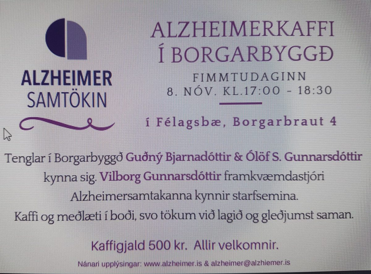 Vekjum athygli á þessum áhugaverða viðburði 8.nóvember n.k. kl.17 í Félagsbæ.