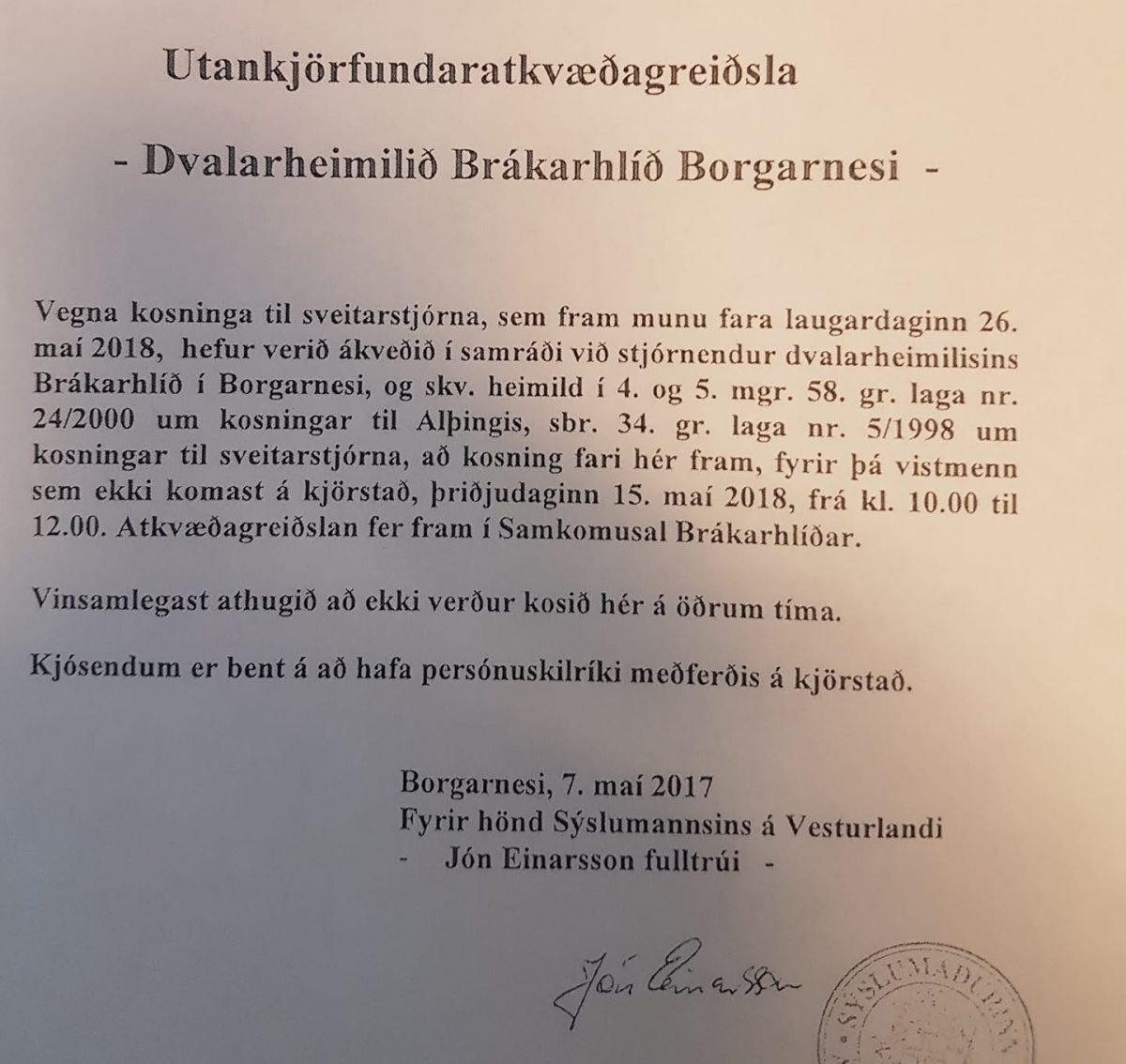 Vekjum athygli á að utankjörfundaratkvæðagreiðsla vegna kosninga til sveitarstjó...