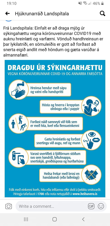 Við í Brákarhlíð deilum hér hollráðum frá Landspítala